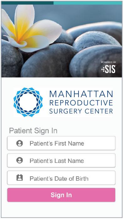 Manhattan Reproductive Surgery Center's patient portal login